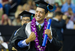 Zach Baltazar and more than 1,100 graduates received their degrees during two commencement ceremonies in May 2019.